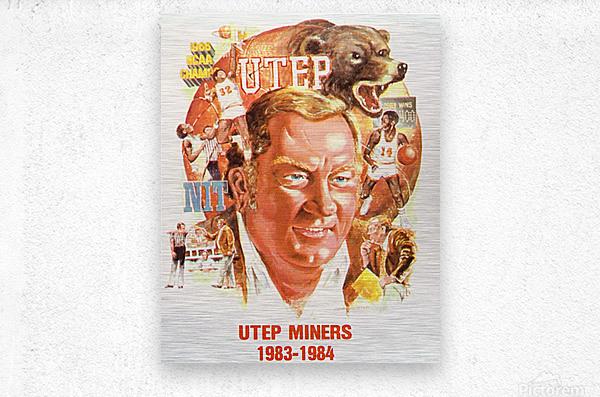 1983 UTEP Basketball  Metal print