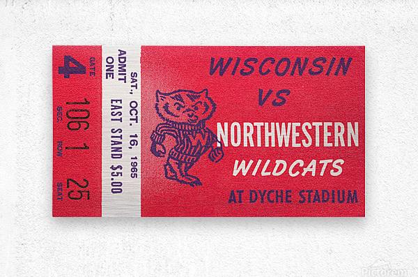 1965 Northwestern vs. Wisconsin  Metal print