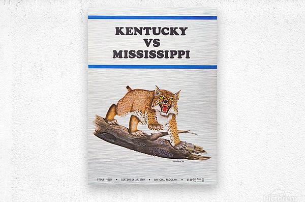 1969 Kentucky vs. Mississippi  Metal print