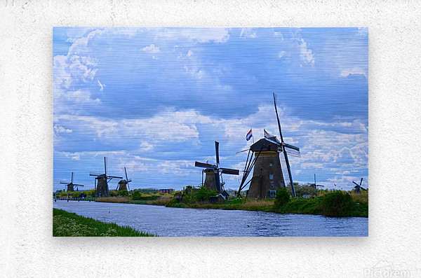 Windmills of the Netherlands 1 of 4  Metal print
