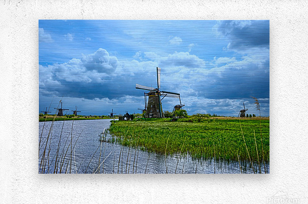 Windmills of the Netherlands 3 of 4  Metal print