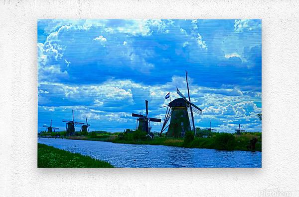 I Dreamed of Windmills  Metal print