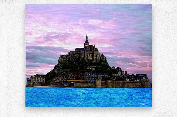 Mont St Michel at Sunset  Metal print