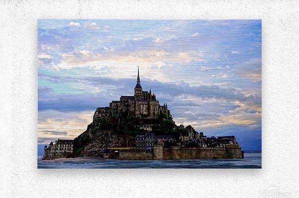 Mont St Michael Rising Tide  Metal print