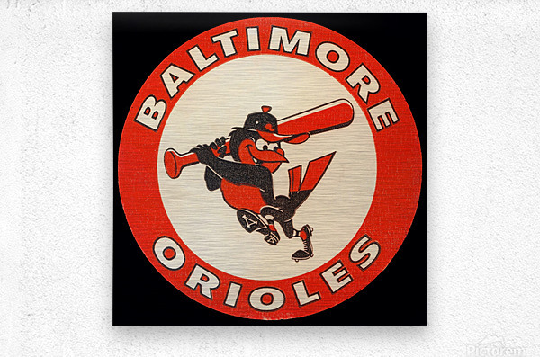 1960s Baltimore Orioles Art  Metal print