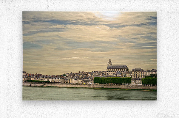 Cathedrale Saint Louis Across the Loire  Metal print