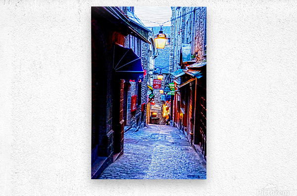 A Day at Mont Saint Michel 2 of 12  Metal print