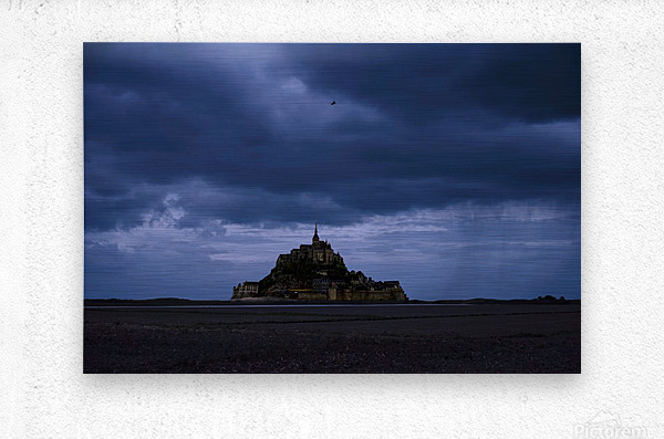 A Day at Mont Saint Michel 12 of 12  Metal print
