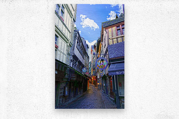 A Day at Mont Saint Michel 3 of 12  Metal print