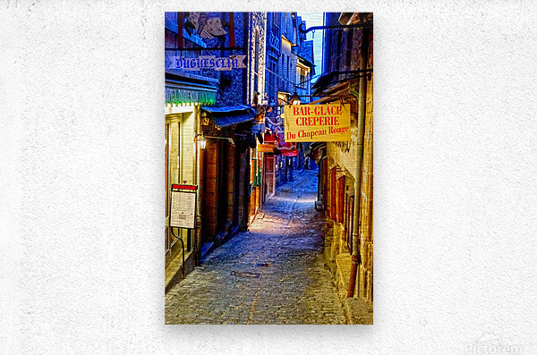 A Day at Mont Saint Michel 4 of 12  Metal print