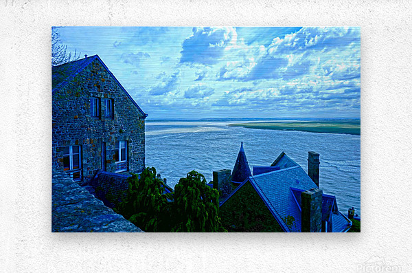 A Day at Mont Saint Michel 11 of 12  Metal print