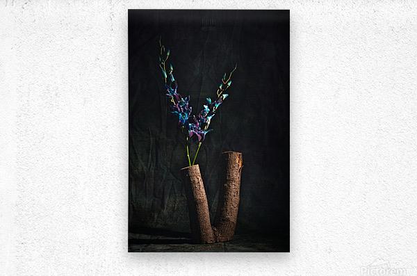 Fleur doiseau  Metal print