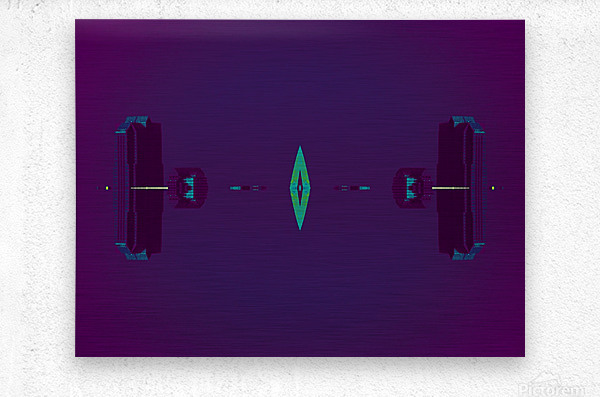 Portal  80   Metal print