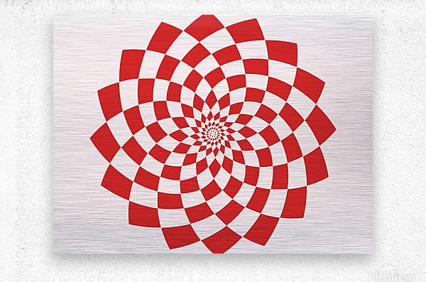 Red flake   Metal print