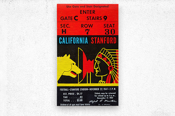 1947 Cal vs. Stanford  Metal print