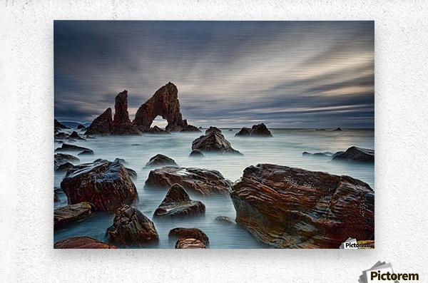 Sea Arch at Crohy Head by Derek Smyth   Metal print