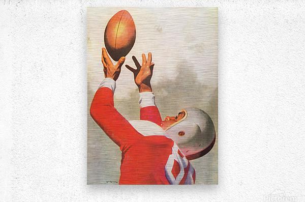 Sports Artist Lon Keller Football Art 1947  Metal print