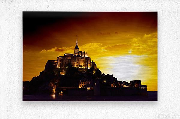 Majestic Mount Saint Michael  Metal print