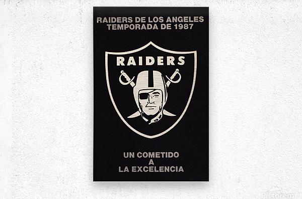 1987 Raiders Un Cometido A La Excelencia Poster  Metal print