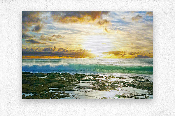 Changing of the Tides  Metal print