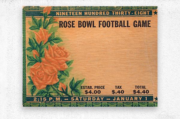 1938 Rose Bowl California Win  Metal print