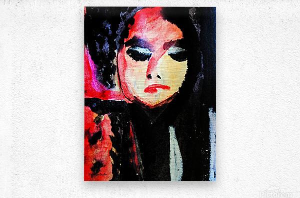 Lady in Black  Metal print