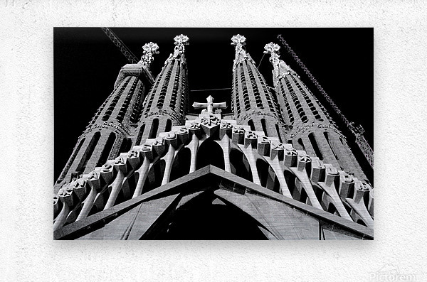 the Cathedral - La Sagrada Familia  Impression metal