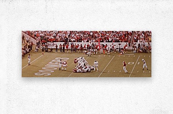 1982 Oklahoma vs. OSU Marcus Dupree Touchdown  Metal print