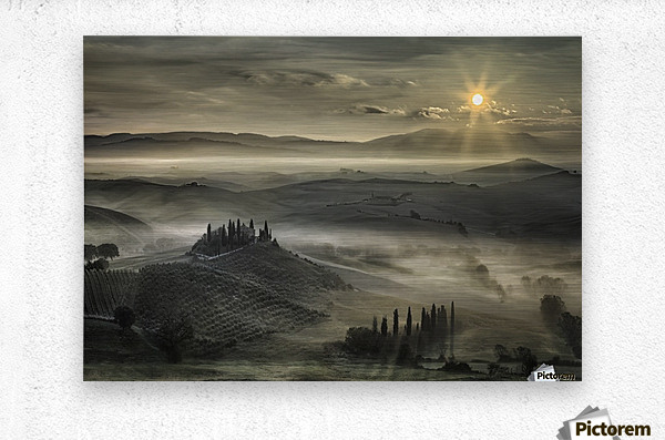 Tuscan Morning  Metal print