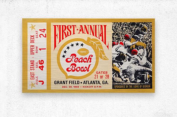 1968 First Peach Bowl LSU Win  Metal print