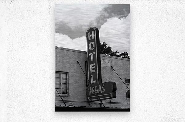 HOTEL VEGAS  Metal print