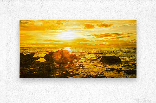Majestic Sunset Panorama  Metal print