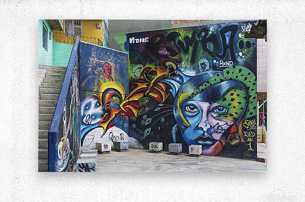 Background Graffiti  Metal print