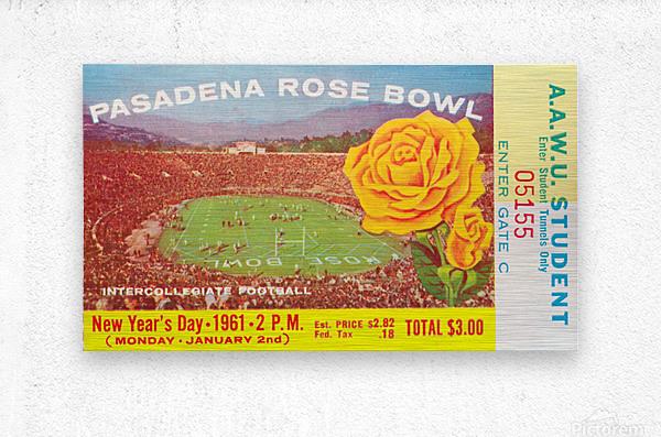1961 Rose Bowl Washington Win  Metal print