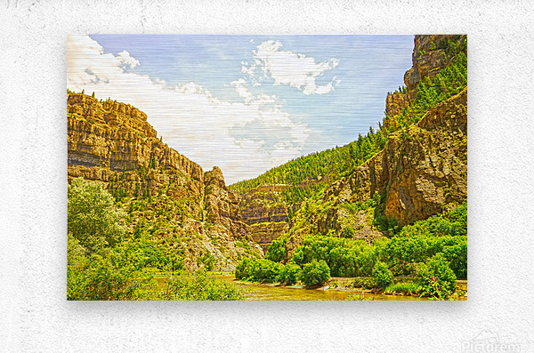 Golden Colorado 2  Metal print