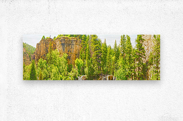 In Gods Country  Metal print