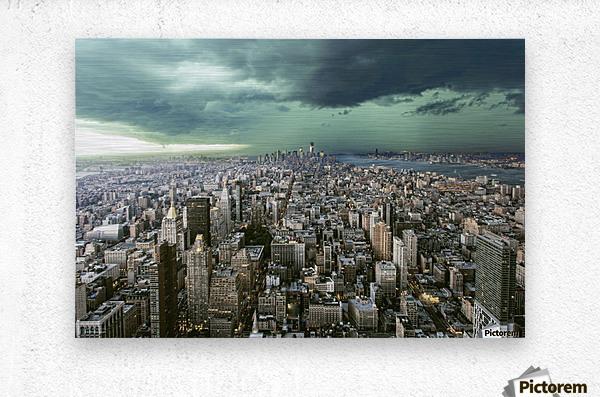 New-York under storm by Pagniez    Metal print