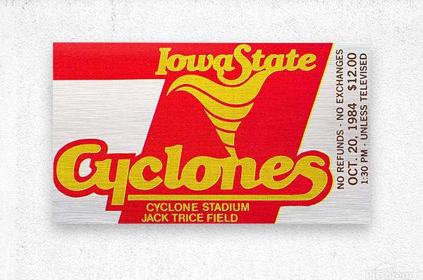 1984 Iowa State Ticket Stub Art  Metal print