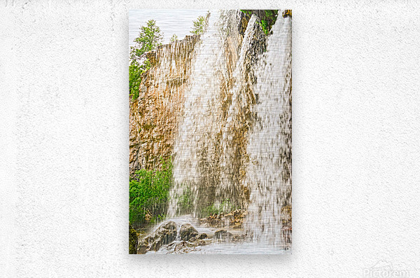 Rocky Mountain Rapids and Waterfalls 3 of 8  Metal print