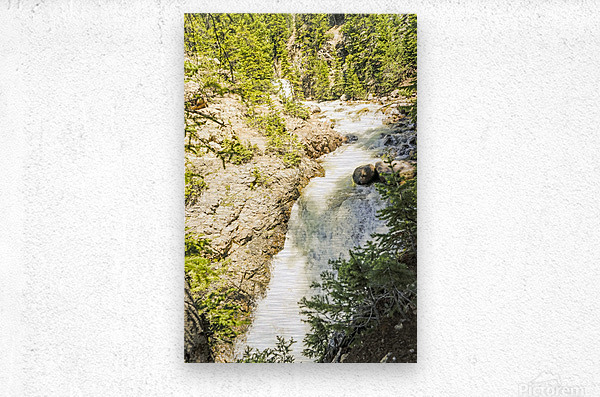 Rocky Mountain Rapids and Waterfalls 6 of 8  Metal print