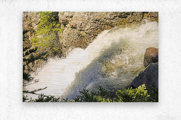 Rocky Mountain Rapids and Waterfalls 7 of 8  Metal print