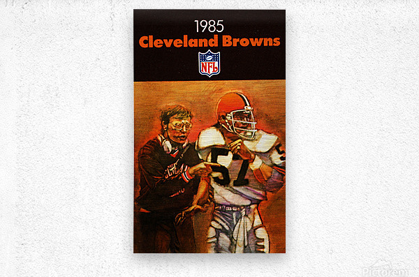 1985 Cleveland Browns Football Poster  Metal print