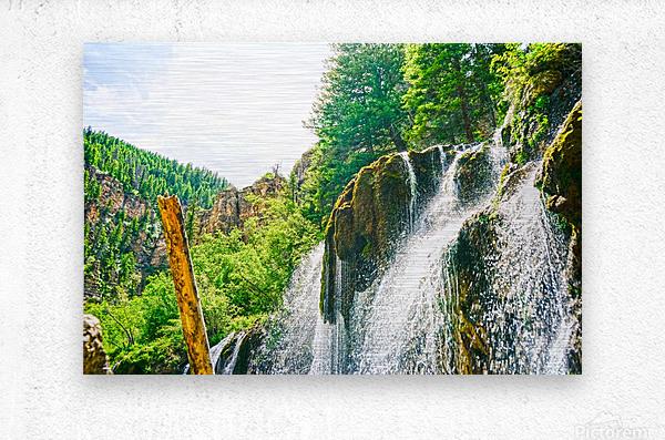 Waterfall Country Colorado 1 of 4  Metal print