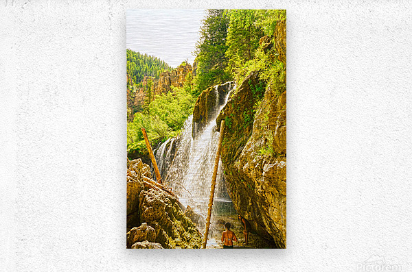 Waterfall Country Colorado 4 of 4  Metal print