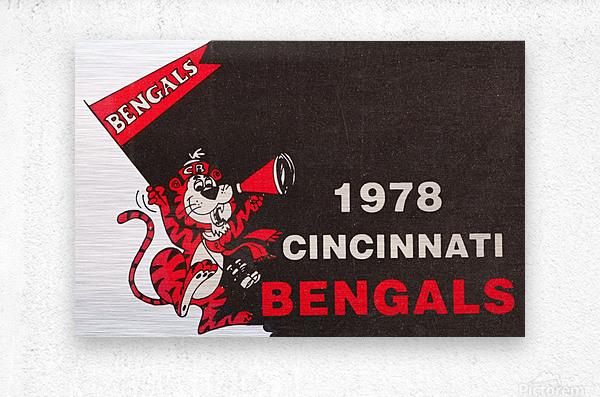 1978 Cincinnati Bengals Poster    Metal print