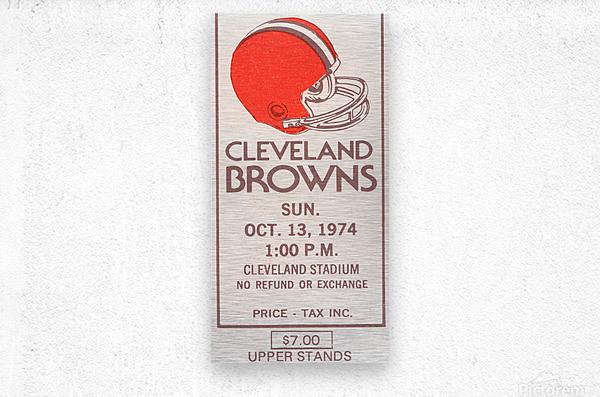 1974 Cleveland Browns Ticket Stub Art  Metal print