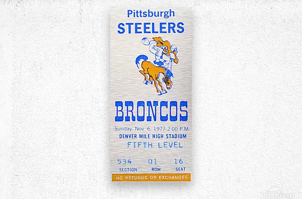 1977 Denver Broncos vs. Pittsburgh  Metal print