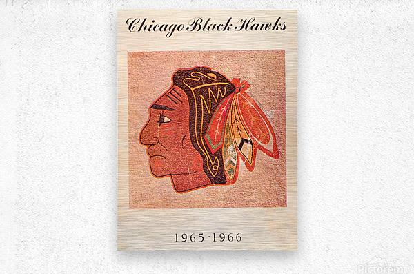 1965 Chicago Black Hawks Art  Metal print