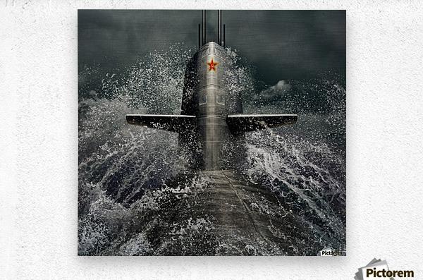 submarine  Metal print