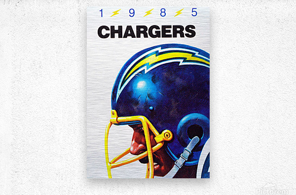 1985 San Diego Chargers Football Poster  Metal print